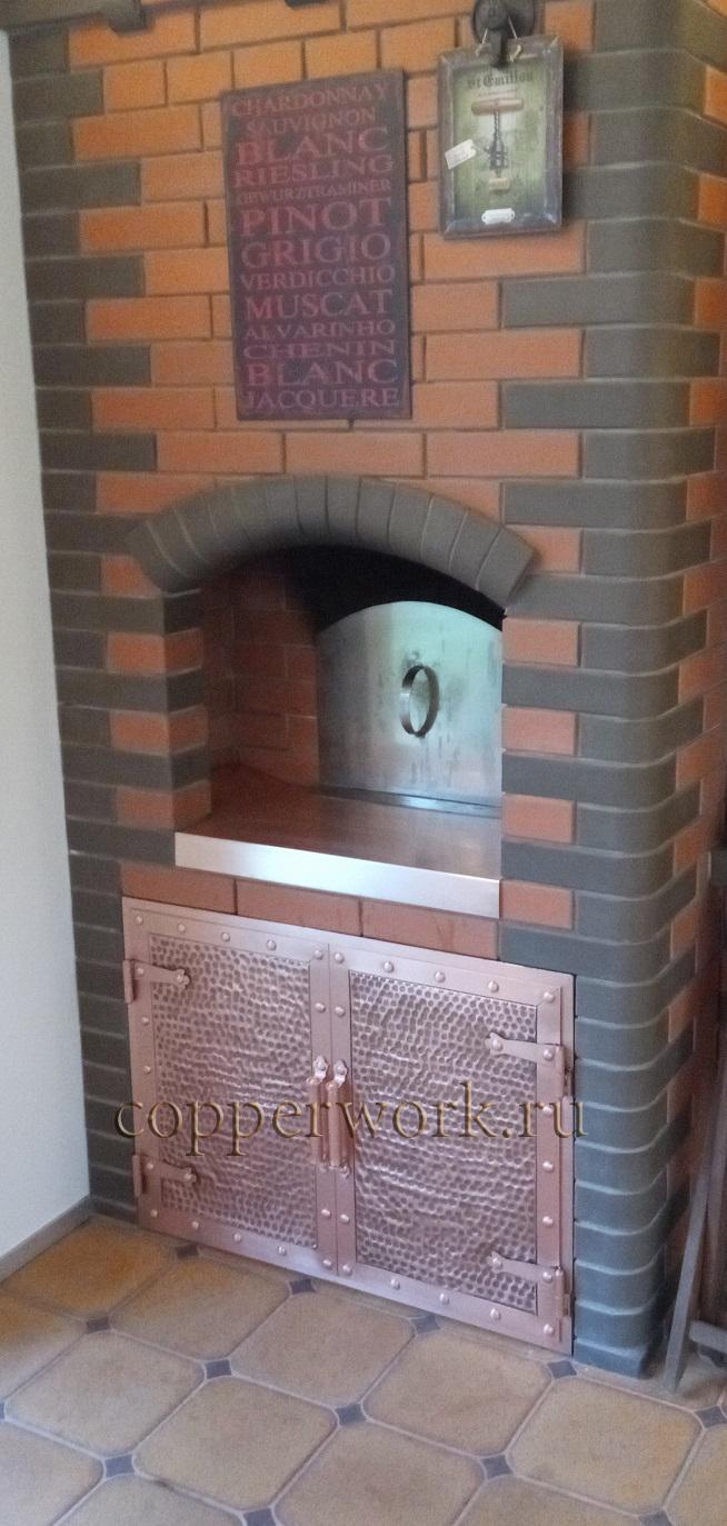 Медная дверка под печь 2