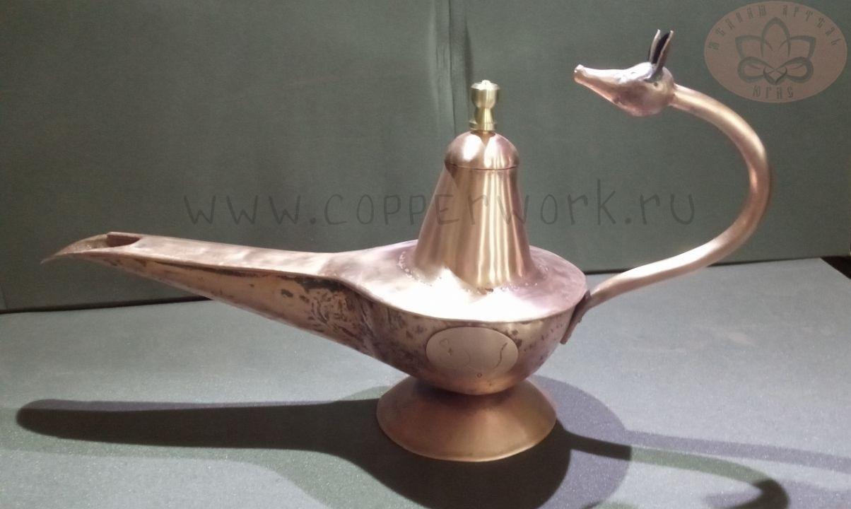 Медная лампа с лисьей головой