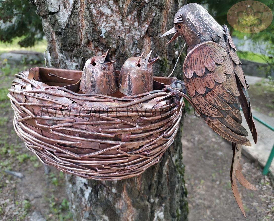 Гнездо кукушки из меди