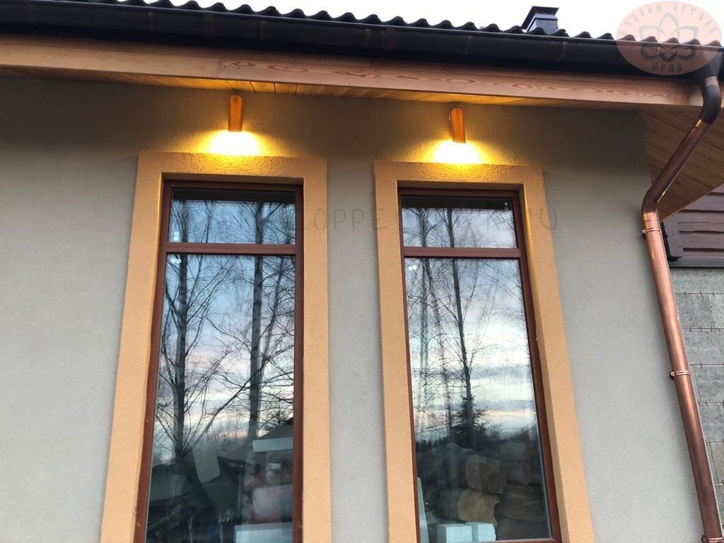 Фасадные светильники из меди