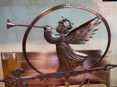 Медный флюгер ангел