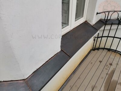 Медный отлив на окна