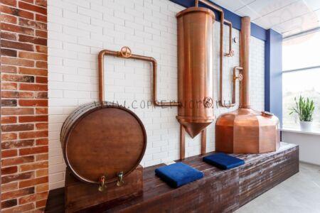 Декоративная медная пивоварня