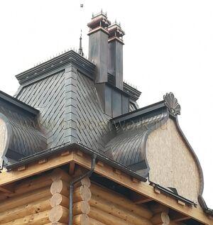 Медь на крыше в форме бочка