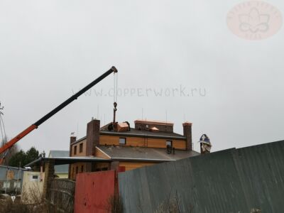 Монтаж медных дымников